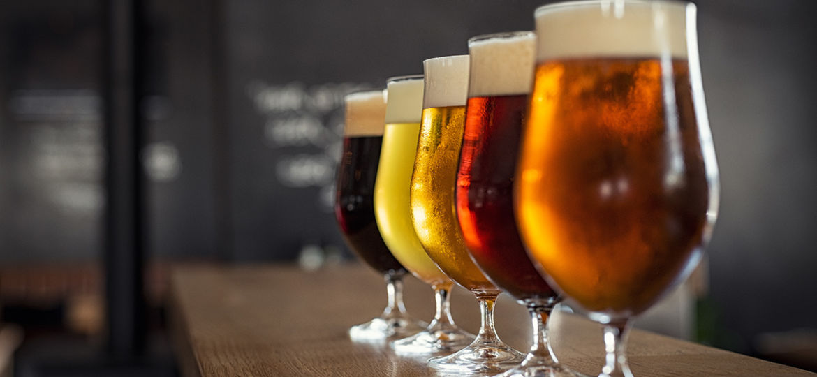 Draught beer in glasses