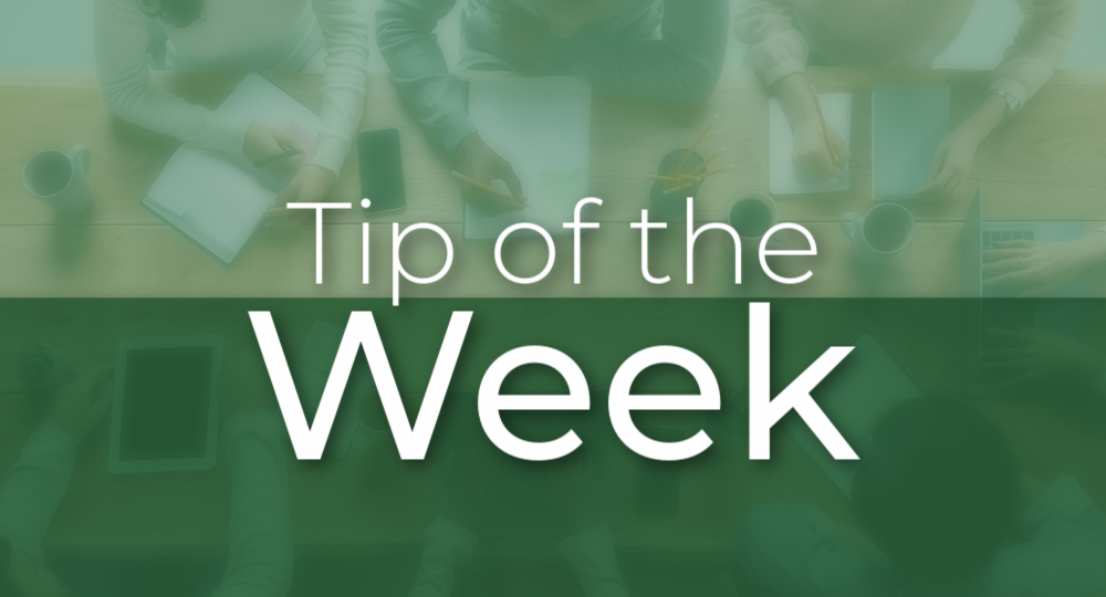 Green- Tip of the Week copy